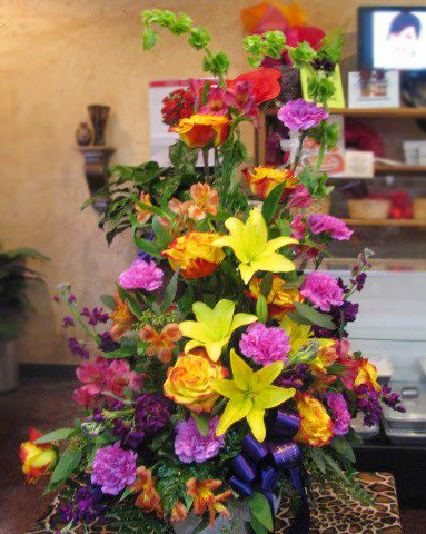 Funeral flower arrangement by Mabank Floral & Gifts, Mabank TX