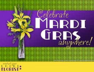 Mardi Gras Promo Flyer for Florists
