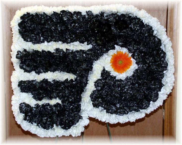 Philadelphia Flyers Funeral Flowers by Maryjane's Flowers & Gifts, Berlin NJ