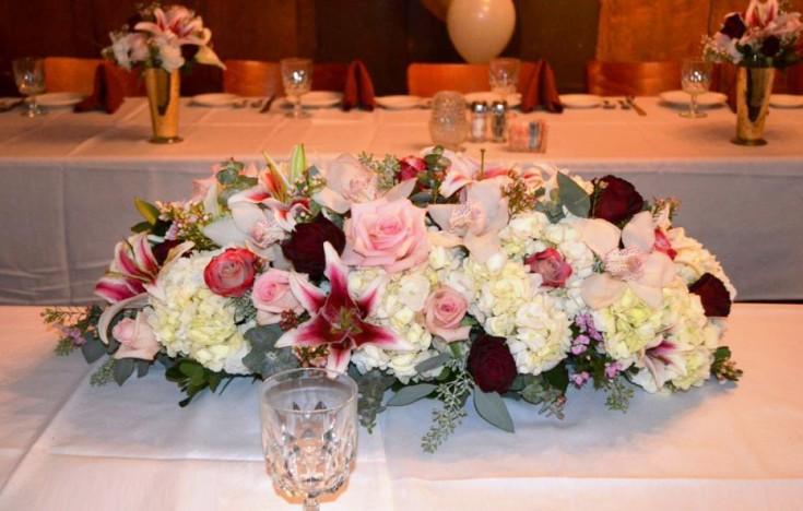 Wedding centerpiece by Monday Morning Flowers, Princeton NJ