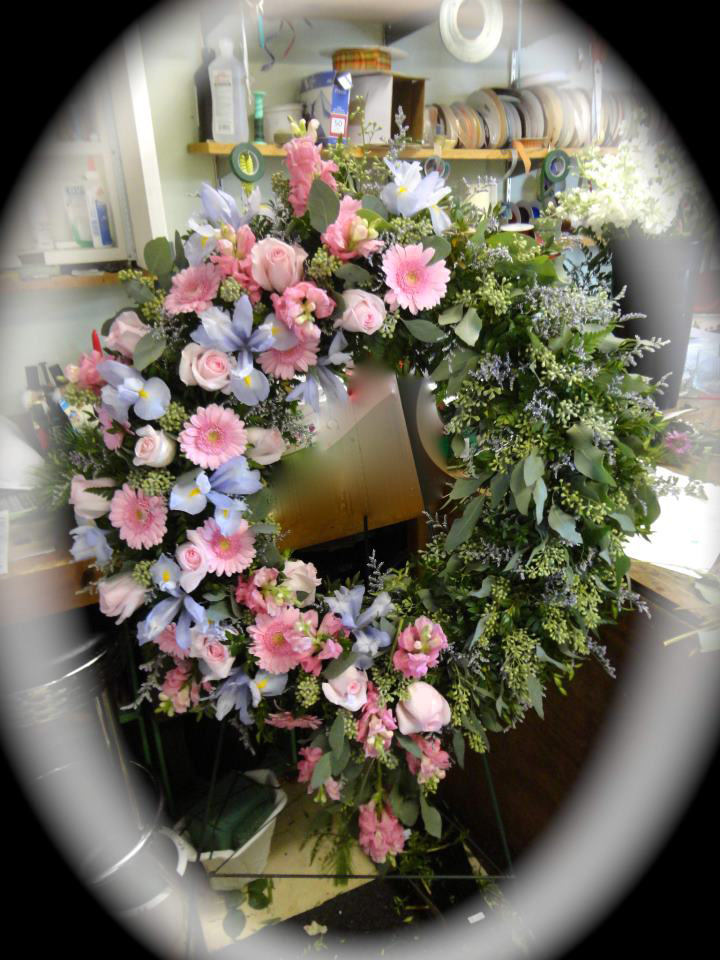 Funeral wreath by Montgomery Florist, Montgomery NY