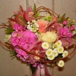 Creative wedding bouquet by The Petal Patch, McFarland WI
