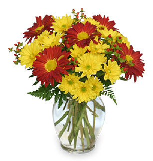 Red & Yellow Flowers for Game Day Spirit