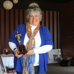 Leslie Cox with her Salesperson of the Year Award