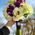 Wedding bouquet by Swannanoa Flower Shop, Swannanoa NC