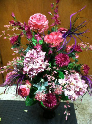 Birthday flower arrangement by Sweet Expressions Florist, Quitman TX