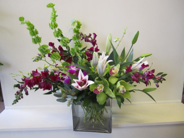 Lovely flower arrangement by TCU Florist, Fort Worth TX