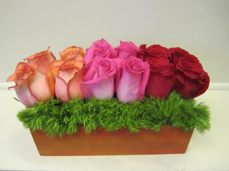 Rose arrangement by TCU Florist, Fort Worth TX