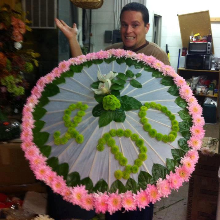 Wedding umbrella by Blossoms in Springfield MO