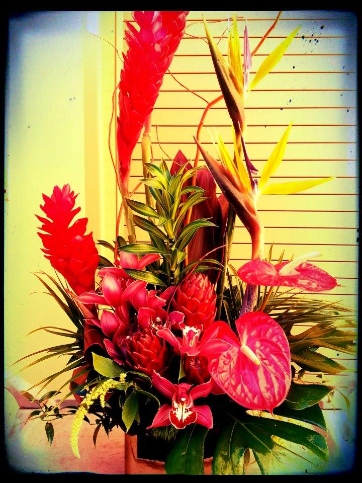 Tropical Flower Arrangement by Anna Starkey, Chandler AZ
