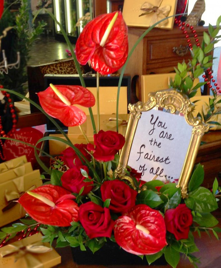 Valentine's Day flowers by Botanical Designs, Baytown TX