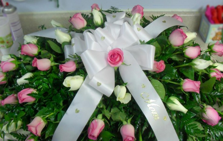 All-rose casket spray by Buds & Blossoms, Edgewood MD