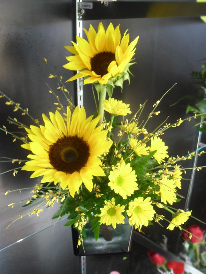 Sunflower flower arrangement by Buds & Blossoms, Edgewood MD