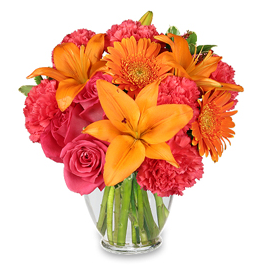 Hot Hot Hot Orange Valentine's Day Flowers