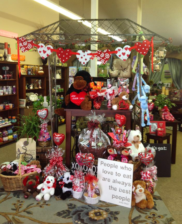 The Valentine's Day interior of La Pine Florist, La Pine OR