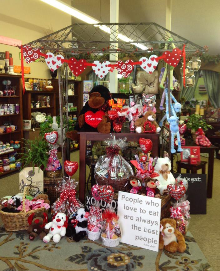 The Valentine's Day interior of La Pine Florist, La Pine OR