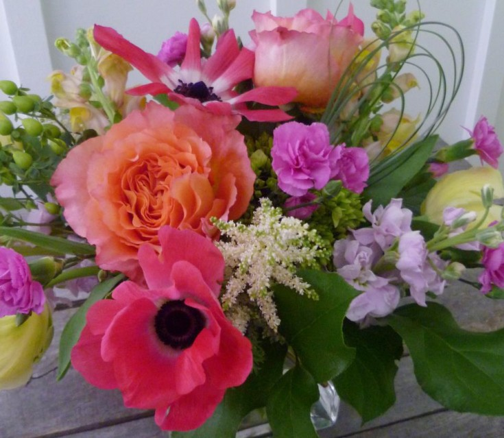 Birthday flowers by Paisley Floral Design Studio, Manchester NH