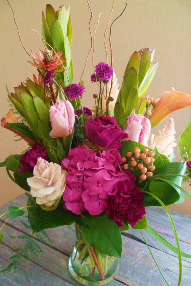 Mixed floral arrangement by Paisley Floral Design, Manchester NH