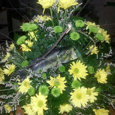 Fisherman funeral flowers by The Personal Touch Florist, Galax VA