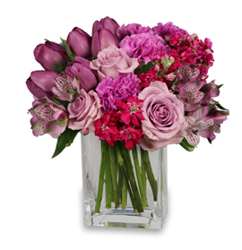 Precious Purple Valentine's Day Flowers