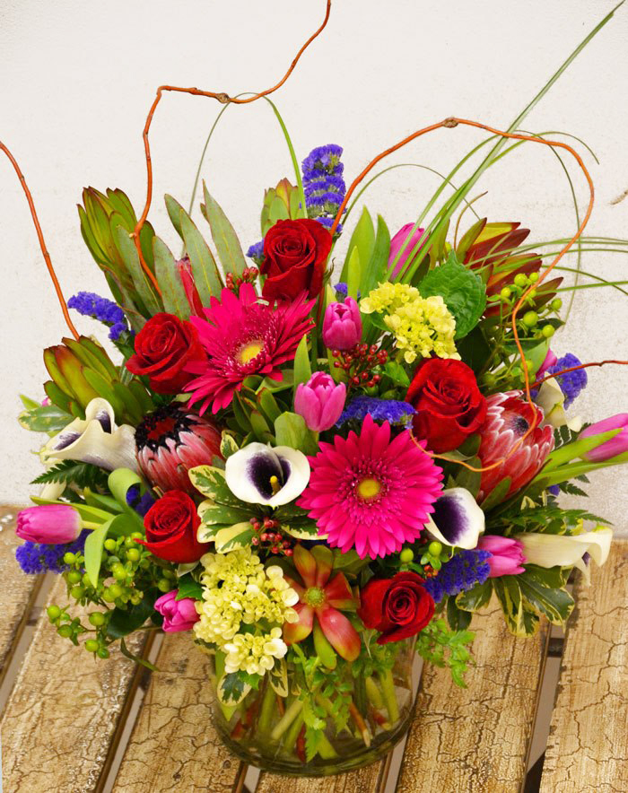 Mixed bouquet for Valentine's by Trigs Floral & Home, Minocqua WI