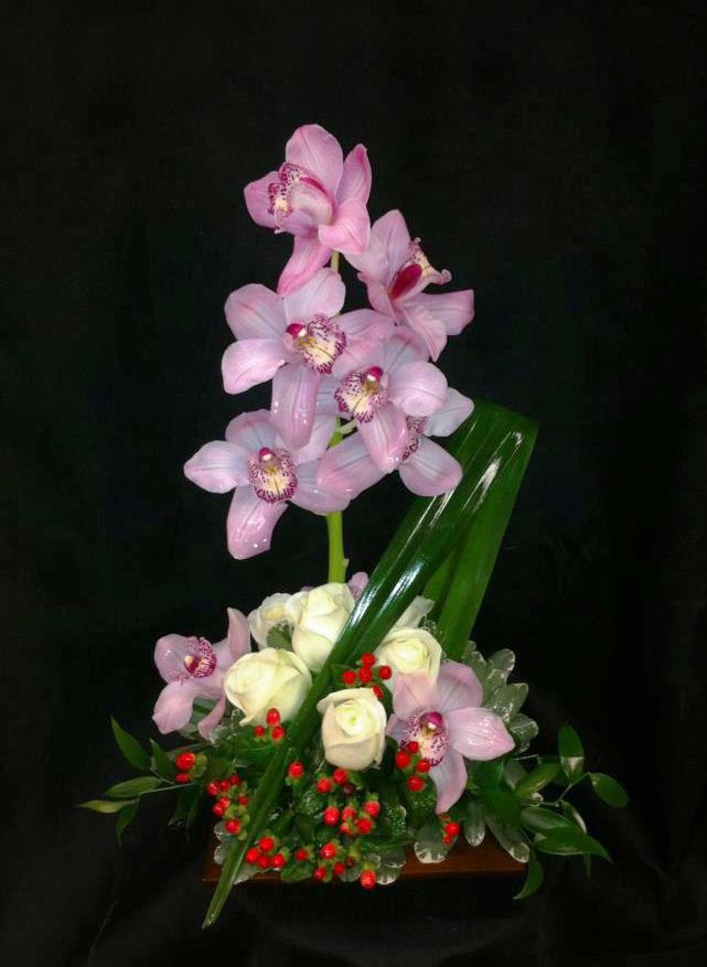 Orchid arrangement by West End Florist, Rome GA