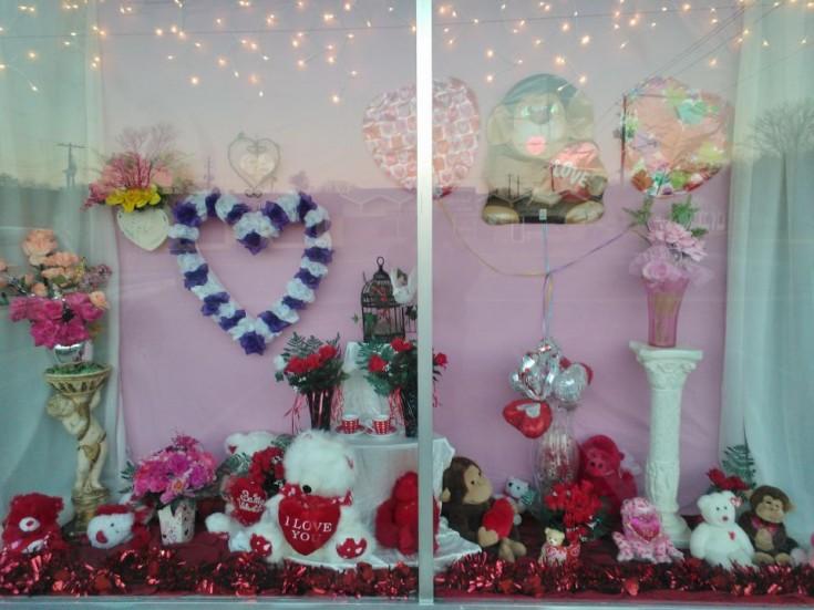 Window view at Wilma's Flowers, Jasper AL