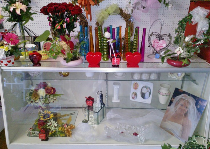 Valentine's display at Wilma's Flowers, Jasper AL