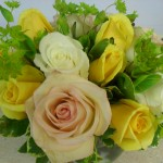 Yellow rose sympathy tribute by Buds & Blossoms, Edgewood MD