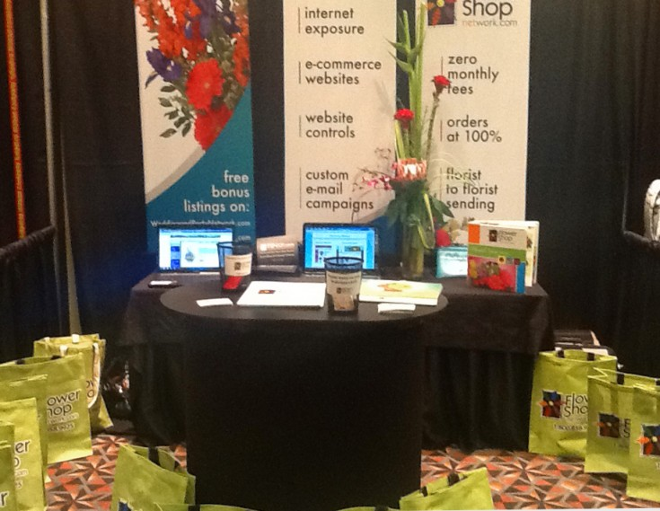 Flower Shop Network's Trade Show Booth