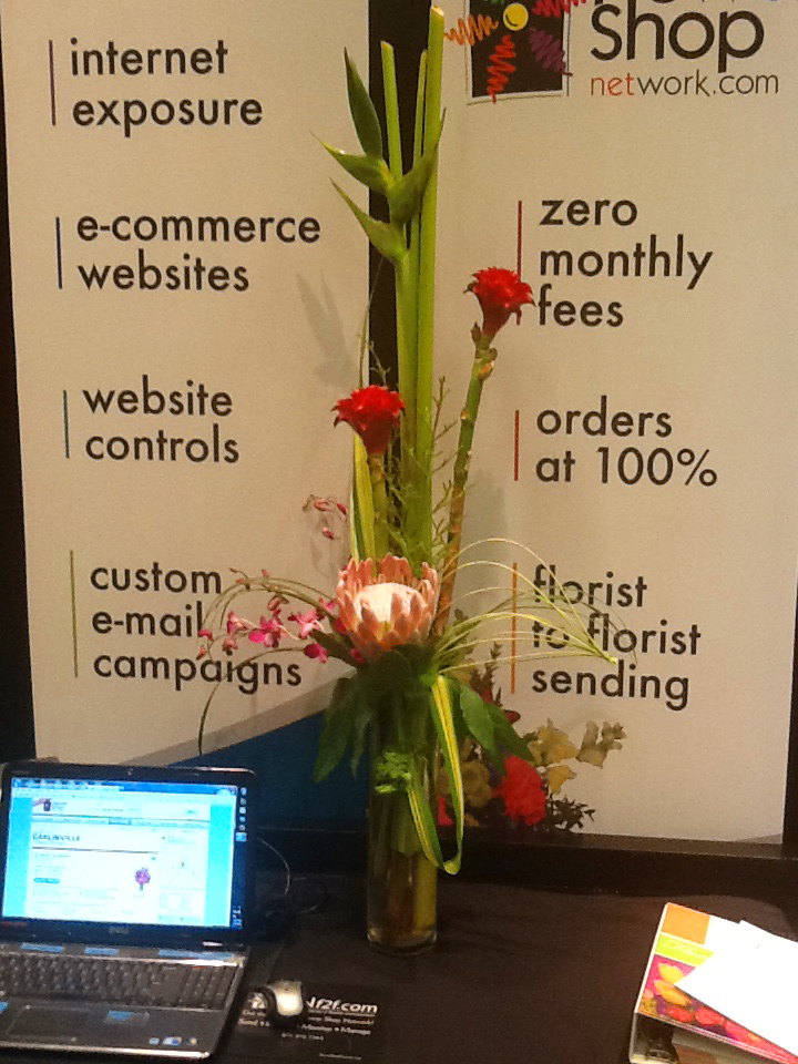 Booth Flowers designed by True Colors  Floral Artistry, Springfield IL