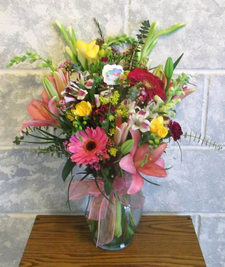 Birthday florals by A-1 Flowers & More, Cottonwood ID