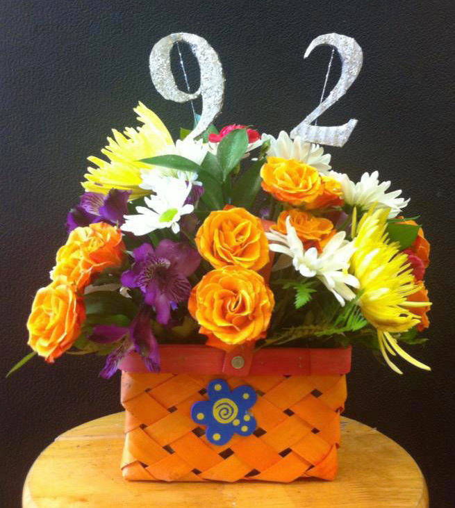 92nd Birthday flowers by Blossoms, Springfield MO