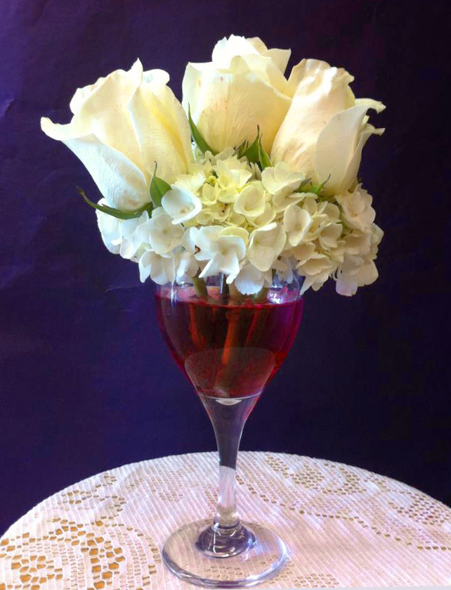 Wine lover's flower arrangement by Blossoms, Springfield MO