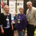 FSN's Beverly with Blythe Flowers Greenhouse at the Illinois State Florist Convention