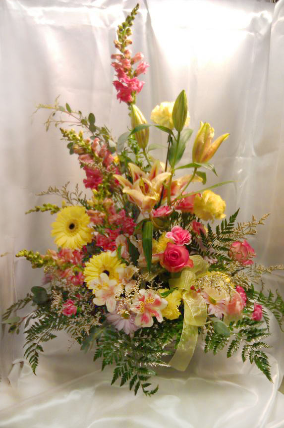 Spring flower design by Country Creations Flowers & Antiques, Marion IL