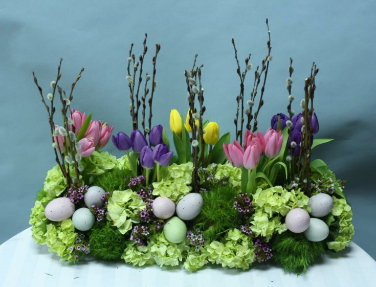 Easter garden arrangement by Crossroads Florist, Mahwah NJ