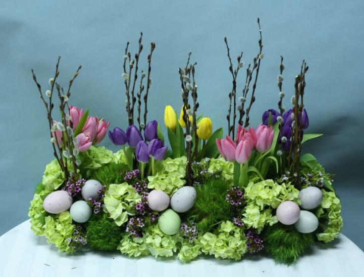 Easter garden arrangement by Crossroads Florist, Mahwah NJ