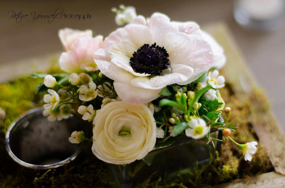 Wedding centerpiece by Floral Design, Post Falls ID