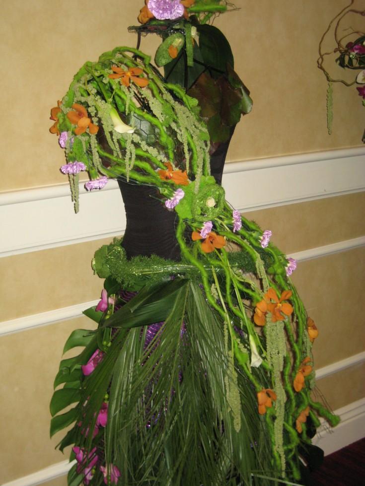 Tropical floral dress