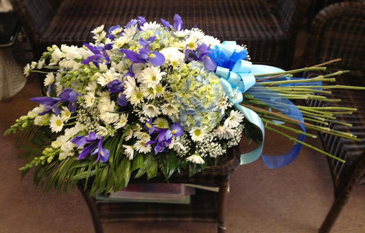 Casket design by Flower Boutique, Cherry Hill NJ