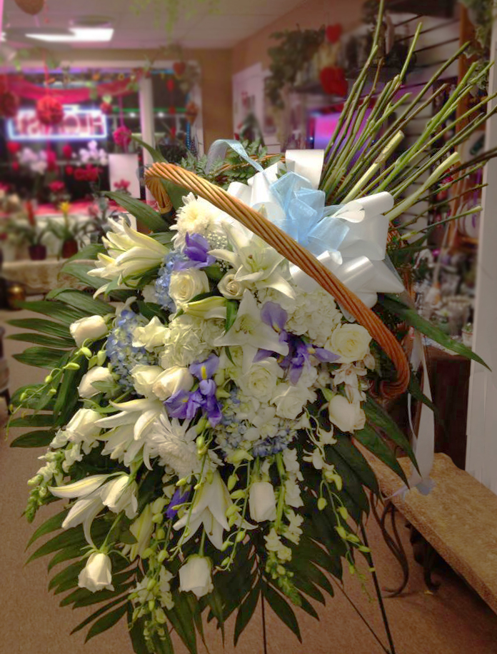 Beautiful sympathy design by The Flower Boutiuqe, Cherry Hill NJ