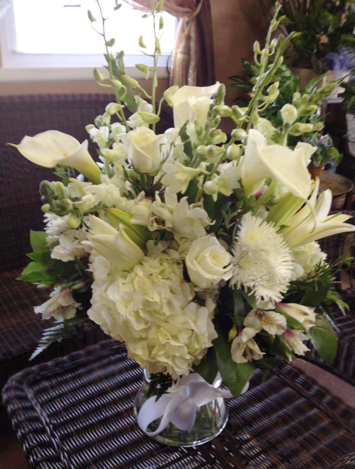Florist friday recap 32 38 blushing blooms all white flower arrangement by flower boutique cherry hill nj mightylinksfo