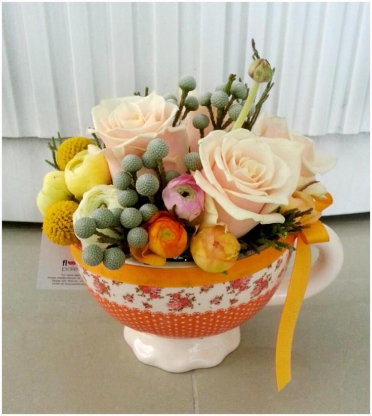 Orange spring design by Flower Palette, Abu Dhabi