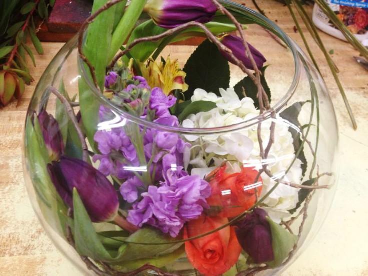 Creative flower arrangement by The Flower Patch & More, Bolivar MO