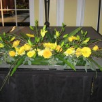 Yellow flower design at the 2013 Great Lakes Floral Expo
