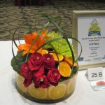 Fruit & flowers design at the 2013 Great Lakes Floral Expo