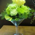 Green Floral Martini by Honeysuckle Lane, Aurora NE