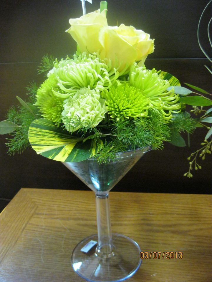 Green Floral Martini by Honeysuckle Lane, Aurora NE
