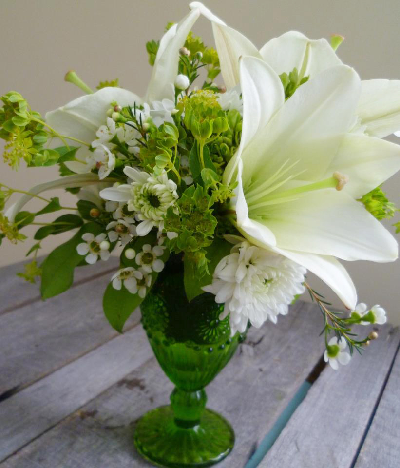 Spring green by Paisley Floral Design Studio, Manchester NH